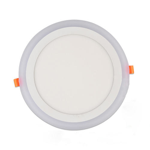 LED TWO COLOR EMBEDDED PANEL LIGHT ROUND 3+2W/6+3W/12+4W/18+6W/24+6W